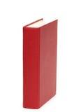 Rotes Buch getrennt auf dem Weiß Stockfotografie