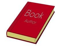 Rotes Buch mit gelbem Papier Stockfotos