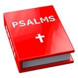 Rotes Buch mit Wort Psalmen Lizenzfreies Stockfoto