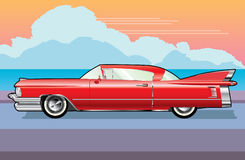 Rotes Cadillac Stockfotos