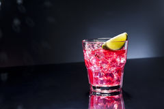 Rotes Campari-Cocktail Stockfoto