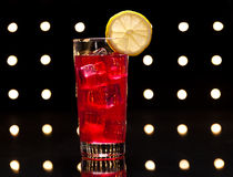 Rotes Campari-Cocktail Stockfotografie
