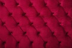 Rotes capitone büschelige Gewebe-Polsterungsbeschaffenheit lizenzfreie stockbilder