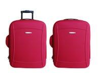 Rotes Carry-ongepäck Lizenzfreie Stockbilder