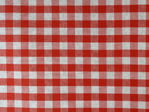 Rotes checkered Gewebe Stockbild