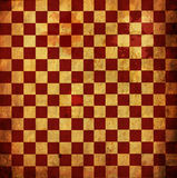Rotes Checkered Grunge Lizenzfreies Stockfoto