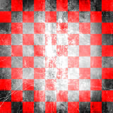 Rotes Checkered Grunge Stockbilder