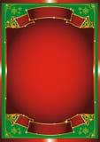 Rotes chrismas Plakat Stockfotografie