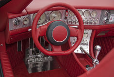 Rotes Cockpit Stockfotos