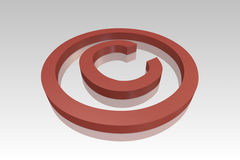 Rotes copyright-Symbol stock abbildung
