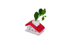 Rotes Dach-Haus stock abbildung