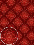 Rotes Damast-Art-Muster Lizenzfreies Stockfoto