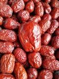 Rotes Datum - Jujube-Frucht-großes kleines Stockfoto