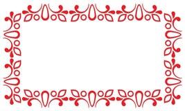 Rotes dekoratives Feld Lizenzfreies Stockfoto