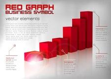 Rotes Diagramm Lizenzfreies Stockbild