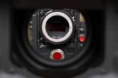 ROTES Digital-Kino-epische-w Kamera stockfotos