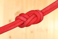 Rotes Doppeltes acht Knoten Lizenzfreies Stockbild