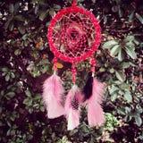 Rotes dreamcatcher Stockbild