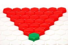Rotes Dreieck von einem Mosaik und von einem Führer Lizenzfreie Stockfotografie