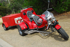 Rotes Dreirad 2 Stockfoto