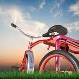 Rotes Dreirad Lizenzfreie Stockfotos