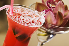 Rotes Cocktail Lizenzfreies Stockbild