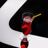 Rotes exotisches Cocktail Stockbilder
