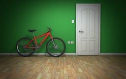 Fahrrad im Raum Stockbild