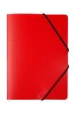 Rotes Faltblatt getrennt lizenzfreies stockbild