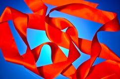 Rotes Farbband Stockfoto