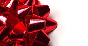 Rotes Farbband auf weißem Hintergrund Stockfoto
