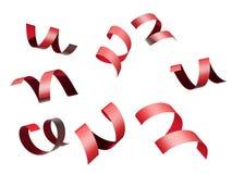 Rotes Farbband getrennt auf weißem Hintergrund Stockbild