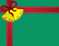 Rotes Farbband mit Bell für ein Geschenk Lizenzfreie Stockbilder