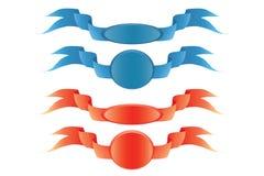 Rotes Farbband und blaues Farbband Lizenzfreies Stockfoto