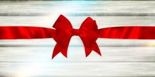 Rotes Farbband und Bogen ENV 10 Lizenzfreie Stockfotos