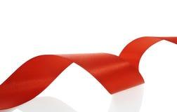 Rotes Farbbanddekorationweihnachten Lizenzfreies Stockfoto