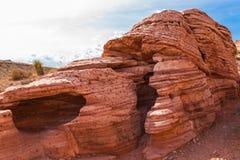 Rotes Felsen-Haus Stockfoto