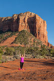Rotes Felsen-Yoga Sedona Lizenzfreies Stockbild