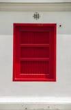 Rotes Fenster Stockfotografie