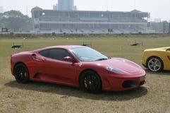 Rotes Ferrari F430 Stockfotografie