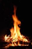Rotes Feuer Stockbild