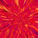 Rotes Feuer der Grenadine drehen Mandala für Karten- oder Fahneneffektexplosion stock abbildung