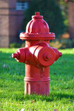 Rotes Feuer-Hydrant Lizenzfreies Stockbild