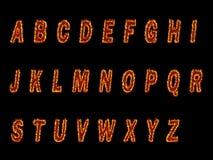 Rotes Feuer-Text Stockfotografie
