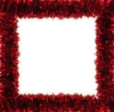 Rotes Filterstreifenfeld getrennt auf Weiß (Platz für Text stockfoto