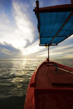 Rotes Fischerboot Lizenzfreies Stockbild