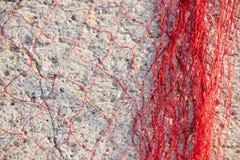 Rotes Fischernetz Lizenzfreie Stockbilder