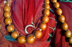 Rotes Fischernetz Stockbild