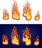Rotes Flammeset Stockbilder