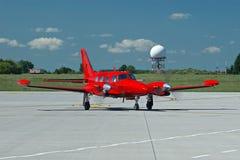 Rotes Flugzeug Stockfoto